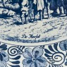 Декоративная Фарфоровая Тарелка «Осень» Голландия DELFT , d -33 см.
