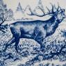 Декоративная Фарфоровая Тарелка - Блюдо «ОХОТА - Лесной Олень» Голландия DELFTs . d - 29 см.