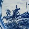 Декоративная Фарфоровая Тарелка «Мельницы» Голландия DELFTs. d - 23,5 см.
