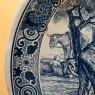 Декоративная Фарфоровая Тарелка «Посадка Картофеля» Голландия DELFT , d -34 см.