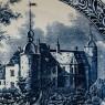 Декоративное Тарелка «Охота в окрестностях Замка» ROYAL SPHINX Holland  DELFTs, Голландия. d-39см.