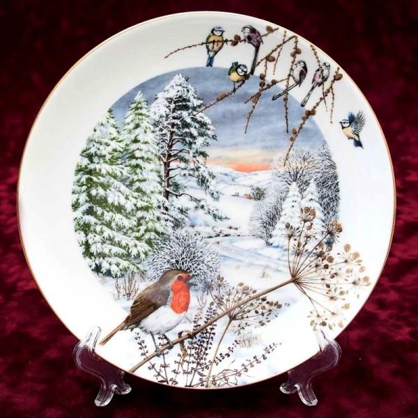 Коллекционная Тарелка «Декабрь» Фарфор, ROYAL WORCHESTER, Англия -1979 год.