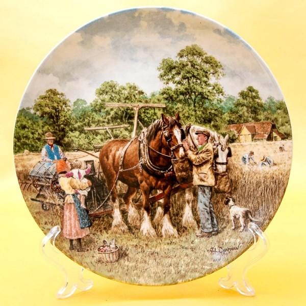 Коллекционная Тарелка «Уборка зерна» Фарфор, WEDGWOOD, Англия -1989 год.