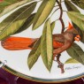 Коллекционная Тарелка - Блюдо «Птица - Кардинал» Фарфор, WEDGWOOD Англия 1977 год.