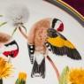 Коллекционная Тарелка - Блюдо «Черноголовый  Обыкновенный Щегол» Фарфор, WEDGWOOD Англия 1977 год.