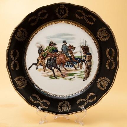Декоративное Блюдо - Тарелка «150 летие Баталий Наполеона» Фарфор Zeh Zcherzer Германия 60 -е годы.
