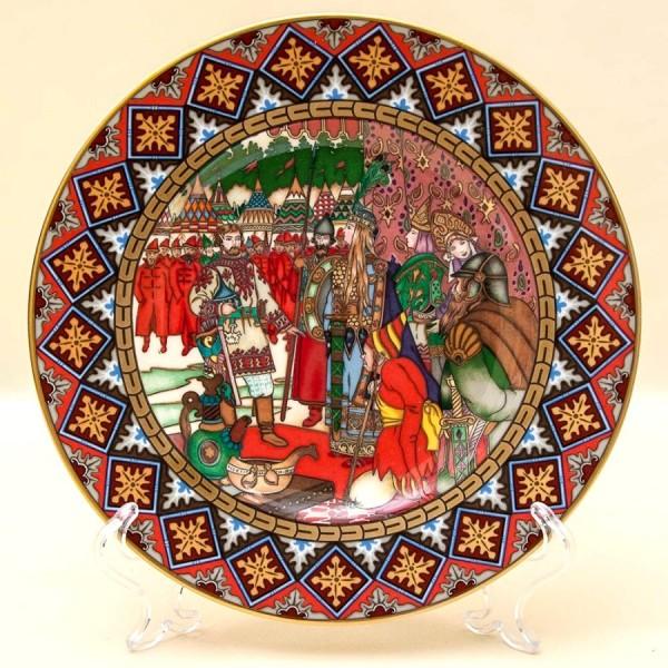 Коллекционная Тарелка «Русские Сказки» - «Марья Моревна» Фарфор, Villeroy&Boch Германия -1990 год.