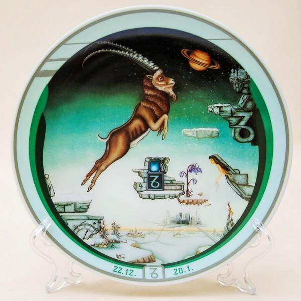 Коллекционная Тарелка - Блюдо «Козерог» Фарфор, IVO Atelier, Германия -1991 год.
