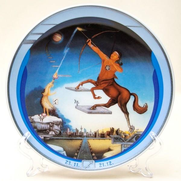 Коллекционная Тарелка - Блюдо «Cтрелец» Фарфор, IVO Atelier, Германия -1991 год.