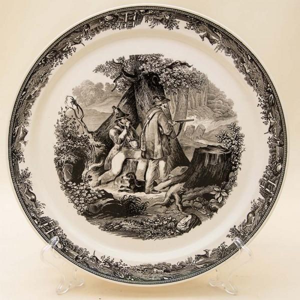 Коллекционная Тарелка - Блюдо «ОХОТА» Фарфор, Villeroy&Boch Германия -30-е гг.
