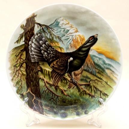 Коллекционная Тарелка «Глухарь» Охота, Фарфор KAISER Porzellan Германия -1979 год.