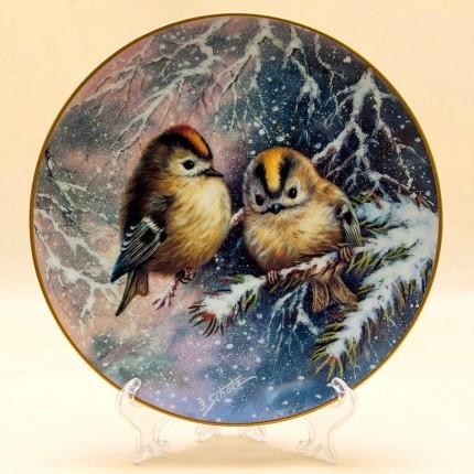 Коллекционная Тарелка «Птицы Зимой» Фарфор, SCHIRNDING Bavaria, Германия -1995 год.