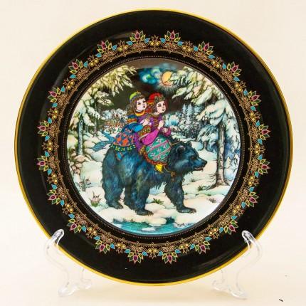 Коллекционная Тарелка «Русские Сказки» - «ЦАРЬ МЕДВЕДЬ» Фарфор, Villeroy&Boch Германия -1986г.
