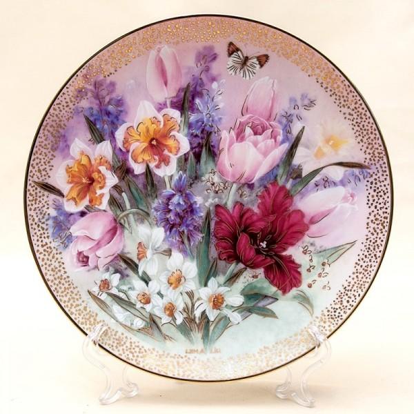 Коллекционная Тарелка «Тюльпановый Ансамбль» Фарфор W.J.GEORGE США -1991 год.
