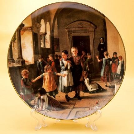 Коллекционная Тарелка «В монастырской школе» Фарфор, Хучеройтер - Hutschenreuther, Германия.