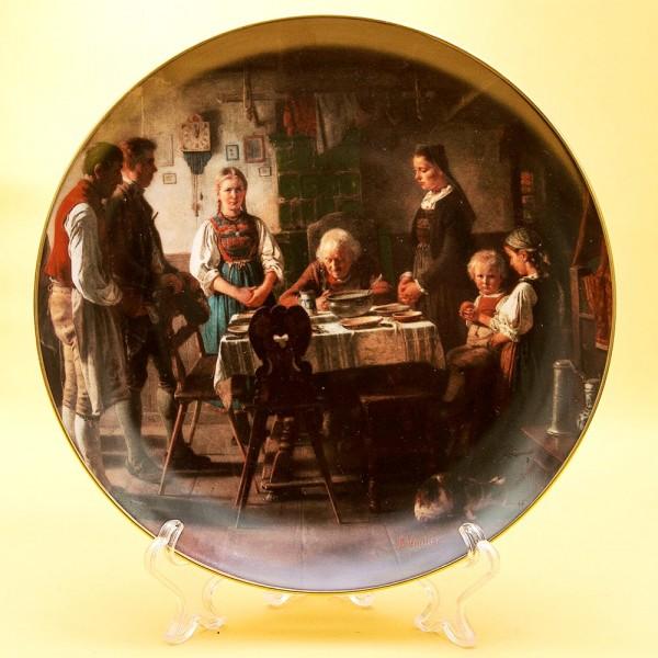 Коллекционная Тарелка «Обеденная Молитва» Фарфор, Хучеройтер - Hutschenreuther, Германия.