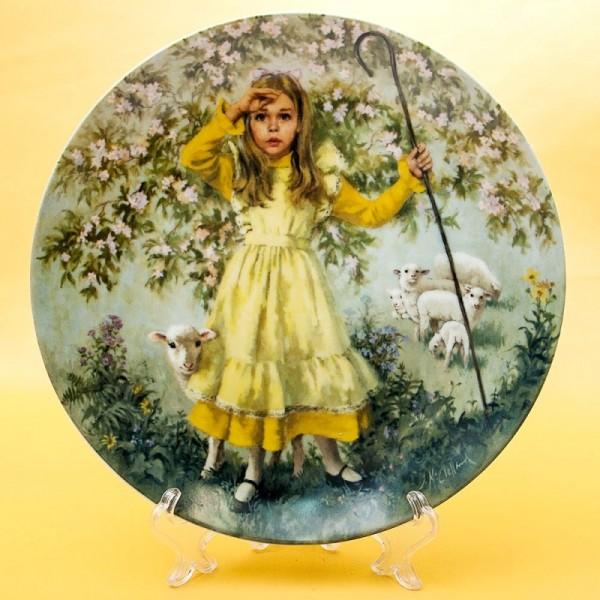 Коллекционная Тарелка «Маленькая Пастушка» Фарфор RECO США -1983 год.