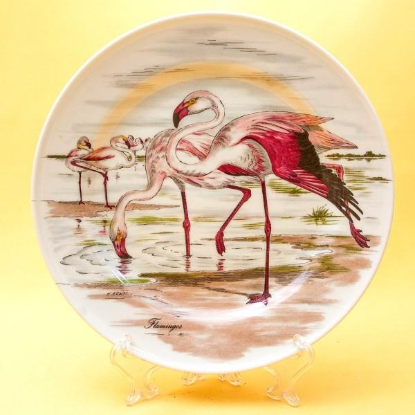 Коллекционная Тарелка «Фламинго», Фарфор KAISER Porzellan Германия -1979 год.