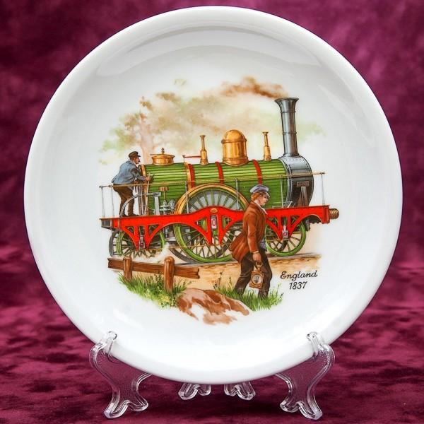 Коллекционная Тарелка из серии «Паровозы» - «Англия-1837» Фарфор, LUISENBURG Германия -1976 год.