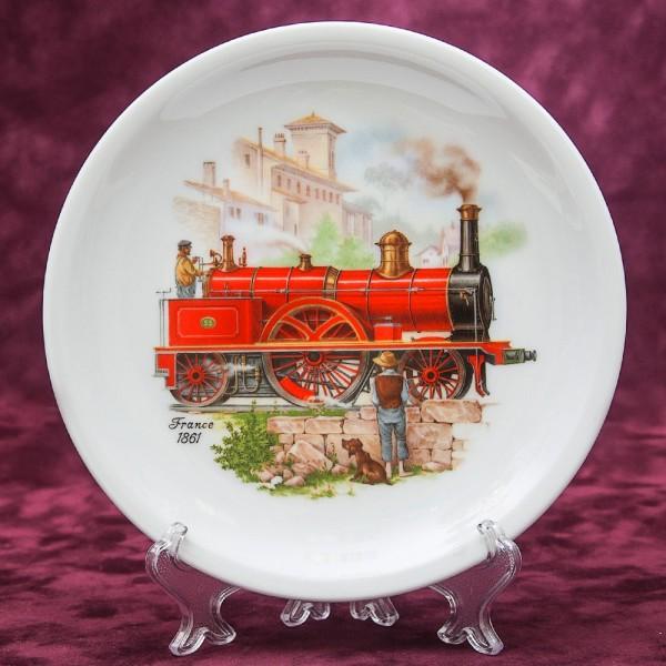 Коллекционная Тарелка из серии «Паровозы» - «Франция-1861» Фарфор, LUISENBURG Германия -1976 год.