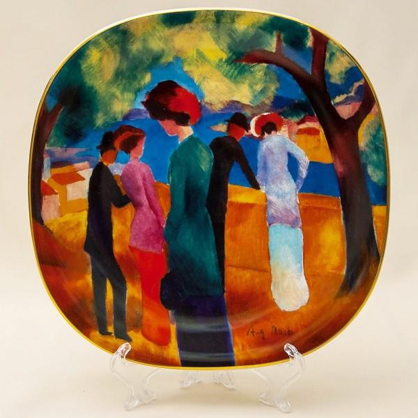 Коллекционная Тарелка «Дама в зеленом жакете» Фарфор, РОЗЕНТАЛЬ ROSENTHAL, Германия.