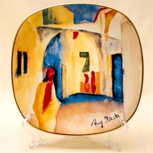 Коллекционная Тарелка «Переулок» Фарфор, РОЗЕНТАЛЬ ROSENTHAL, Германия -1996 год.
