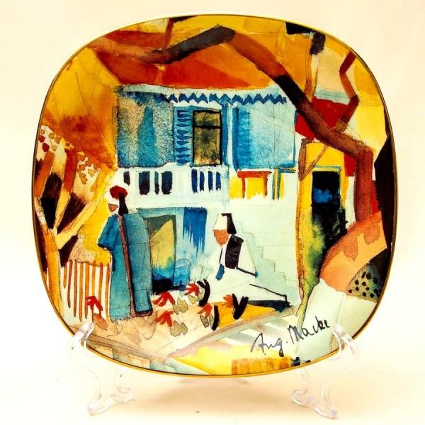 Коллекционная Тарелка «Внутренний Дворик» Фарфор, РОЗЕНТАЛЬ ROSENTHAL, Германия -1996 год.