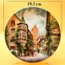 Коллекционная Тарелка «Башня в Меерсбурге» Фарфор VOHENSTRAUSS, Германия -1988 год.
