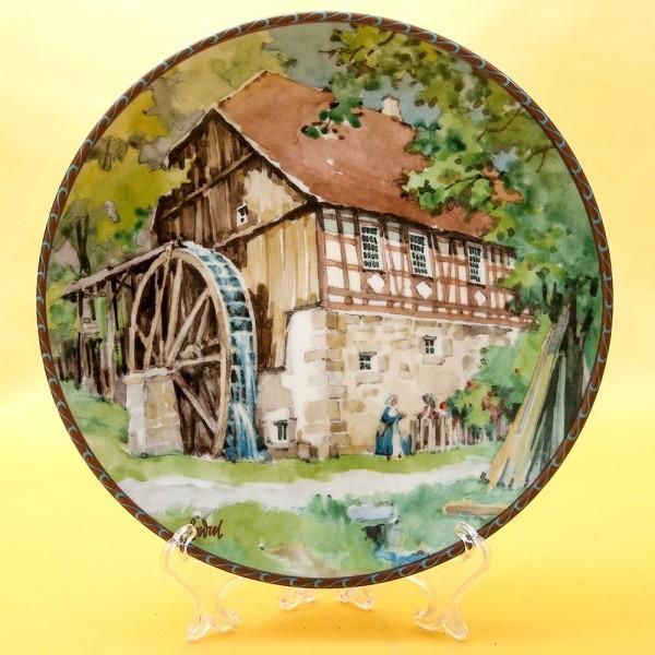 Коллекционная Тарелка  - Блюдо «Водяная Мельница» Фарфор, Konigszelt Bayern Германия -1987 год.