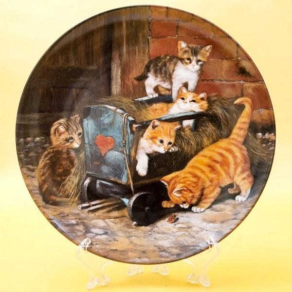 Коллекционная Тарелка «Игривые котята» Фарфор, Seltman Weiden Германия -1991 год.