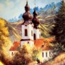 Коллекционная Тарелка «Замковая капелла» Фарфор SCHIRNDING Bavaria, Германия -1994 год.
