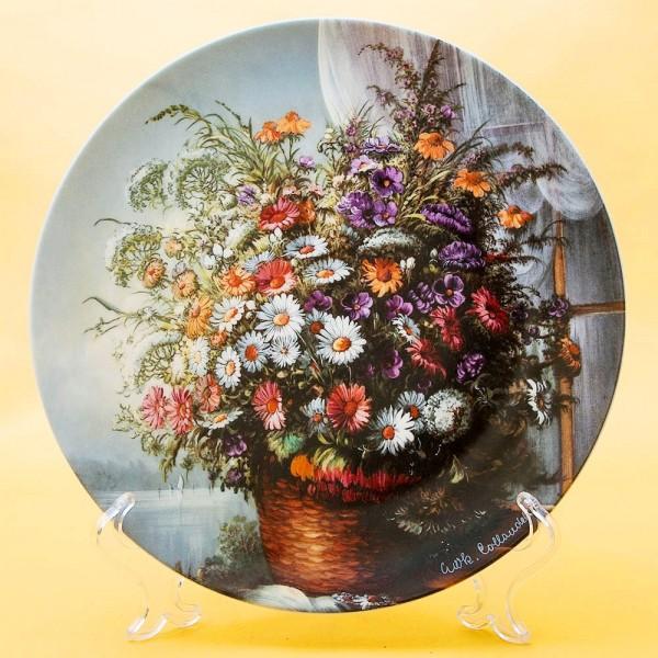 Коллекционная Тарелка «Цветы на окне - Воспоминание» Фарфор, Розенталь Rosenthal Германия -1991 год.