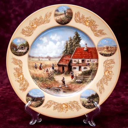 Коллекционная Тарелка «ЖАТВА» Фарфор, Seltmann Weiden, Германия -1989 год.