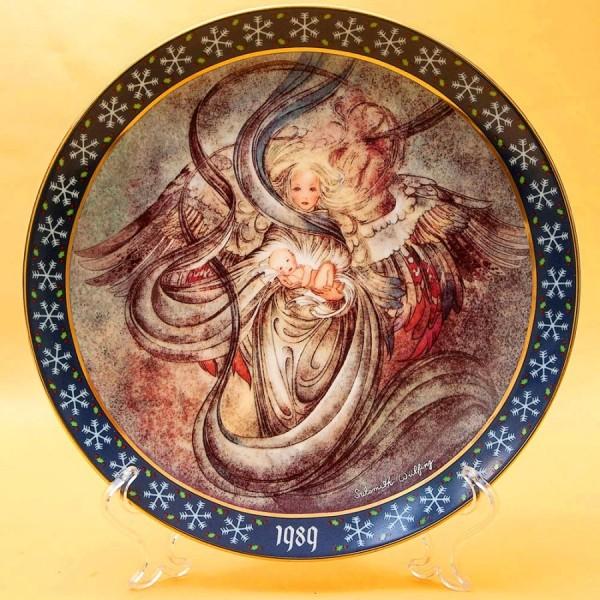 Коллекционная Новогодняя Рождественская Тарелка -1989 год. Фарфор, Königszelt Германия.