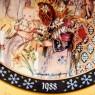 Коллекционная Новогодняя Рождественская Тарелка -1988 год. Фарфор, Königszelt Германия.
