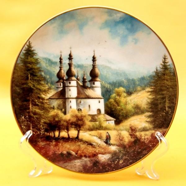 Коллекционная Тарелка «Часовня в лесу» Фарфор SCHIRNDING Bavaria, Германия -1994 год.