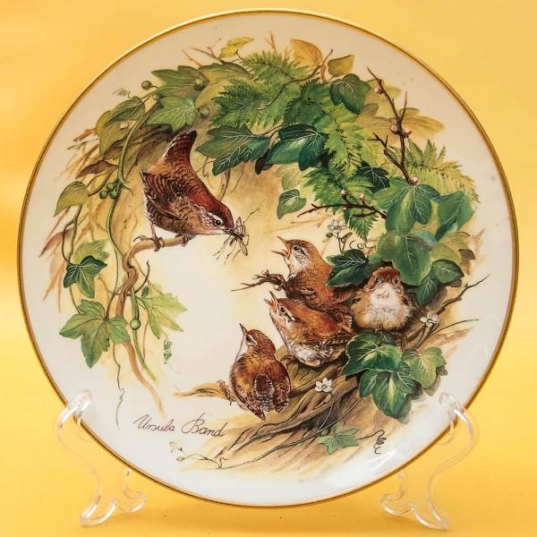 Коллекционная Тарелка «Маленькие Крапивники в листве» Фарфор, Hutschenreuther, Германия -1993год.