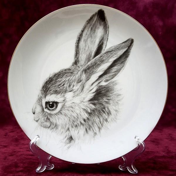 Коллекционная Тарелка - Блюдо «Портрет Зайца» Фарфор, Waldsassen Германия -1970 год.