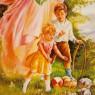 Коллекционная Тарелка «Ангел-Хранитель у обрыва». Фарфор, Германия, AnnaBurg, 1995 год.