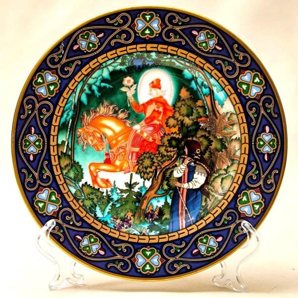 «Василиса Прекрасная» - Коллекционная Тарелка «Русские Сказки»  Фарфор, Villeroy&Boch Германия -1990 год.