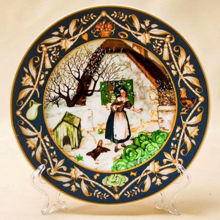 «Волшебная Курица» - Коллекционная Тарелка «Французские Сказки»  Фарфор, Villeroy&Boch Германия.