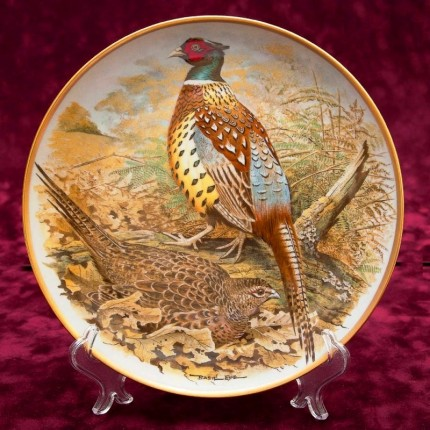 Коллекционная Тарелка «Китайский фазан» Фарфор Лимож Limoges Франция 1979 год.
