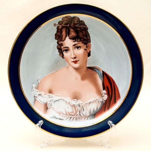 Коллекционная Тарелка «Мадемуазель. Век XIX» Фарфор, Лимож (Limoges) Франция, 60гг.