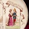 Антикварная Коллекционная Тарелка «Гороскоп - СКОРПИОН» Фаянс Франция Конец ХIХ века.