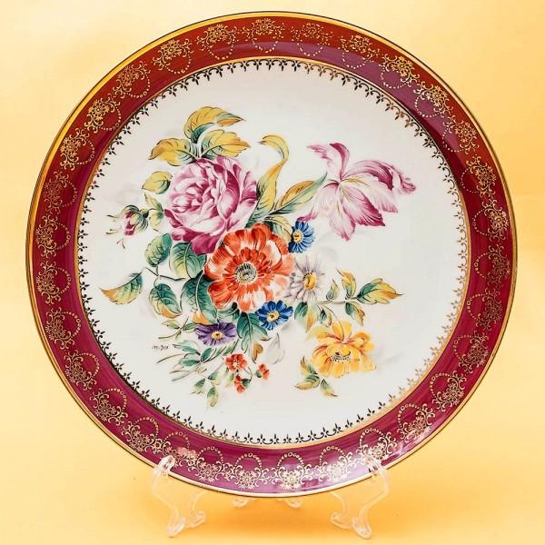 Коллекционная Тарелка «Les Fleurs d'été» Фарфор, Лимож (Limoges) Франция, середина ХХ века.