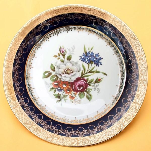 Коллекционная Тарелка «Les Fleurs» Фарфор, Лимож (Limoges) Франция, середина ХХ века.