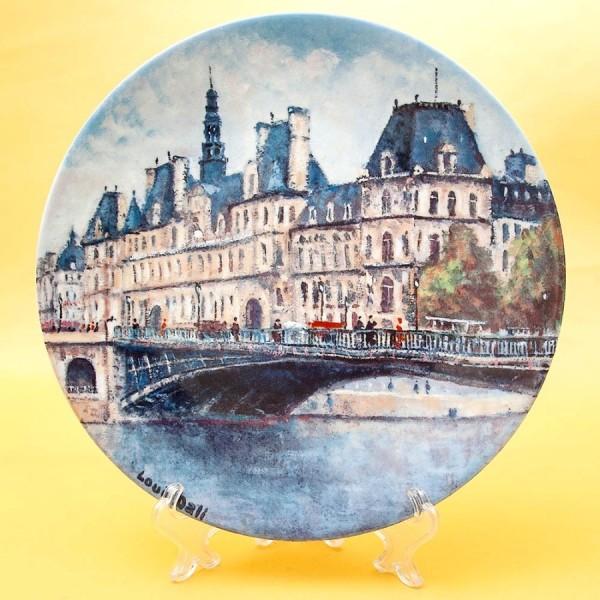 Коллекционная Тарелка «Париж - Отель Де Виль» Фарфор, Лимож, Limoges, Франция.