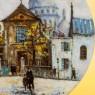 Коллекционная Тарелка «Париж - Базилика Сакре-Кер» Фарфор, Лимож, Limoges, Франция.