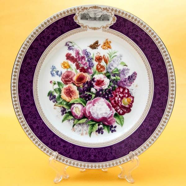 Коллекционная Тарелка «Букет Евгении » Фарфор, Лимож, Limoges, Франция -1990 год.