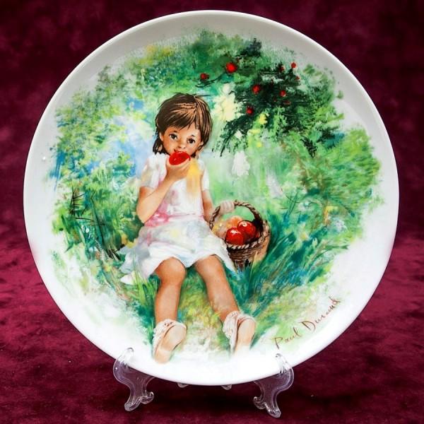 Коллекционная Тарелка «Дети - Marie Ange» Фарфор Лимож Limoges Франция 1980 год.